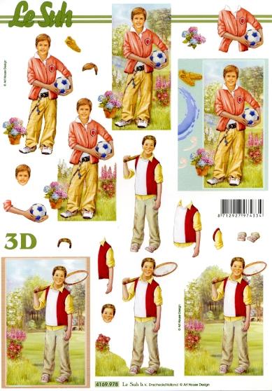 3D Bogen  - Format A4,  Sport - Fußball,  Le Suh,  3D Bogen,  Blumen