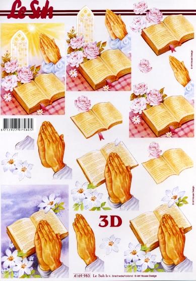 3D Bogen Religie - Format A4,  Ereignisse - Kommunion,  Le Suh,  3D Bogen,  Bibel,  Konfirmation