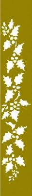 1 Prägungsschablone  - 17,3 x 3 cm,  Prägungsschablonen,  Ilex