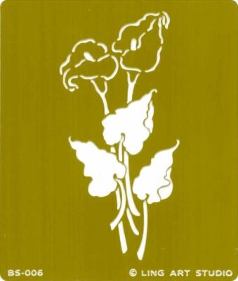 1 Prägungsschablone  - 7 x 8 cm,  Prägungsschablonen,  Blumen