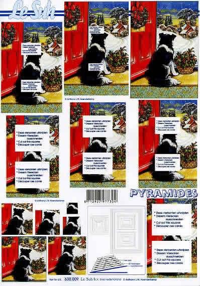 3D Bogen Pyramides - Format A4,  Tiere - Hunde,  Le Suh,  3D Bogen,  Hunde