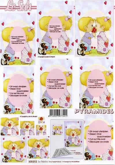 3D Bogen Pyramides - Format A4, Menschen - Kinder,  Ereignisse - Liebe,  Le Suh,  3D Bogen,  Jungen,  Mädchen,  Kinder
