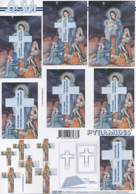3D Bogen Pyramides - Format A4,  Le Suh,  3D Bogen