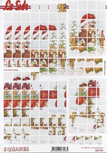 3D Bogen Squares - Format A4,  Winter,  3D Bogen