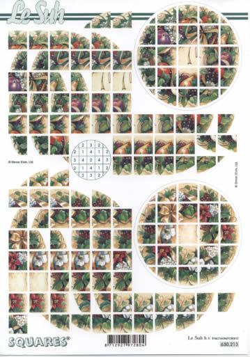 3D Bogen Squares - Format A4,  Blumen - Weihnachtsstern,  Le Suh,  3D Bogen,  Weihnachtsstern