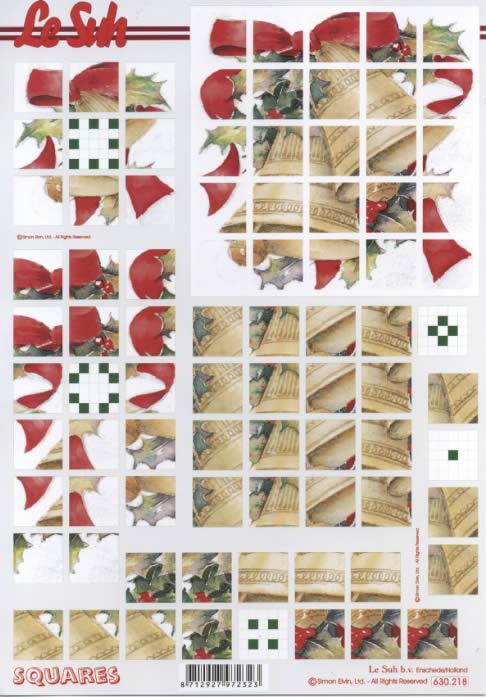 3D Bogen Pyramides - Format A4,  Weihnachten - Glocken,  Le Suh,  3D Bogen