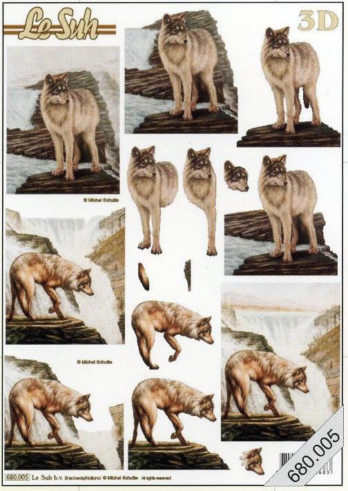 3D Bogen / Art,  Wölfe