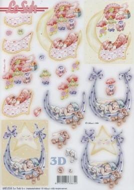 3D Bogen gestanzt Geburt - Format A4,  Menschen - Babys,  Baby,  Geburt