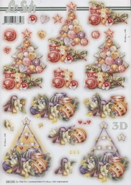 3D Bogen gestanzt Weihnachten Baum - Format A4,  Weihnachten - Baumschmuck,  Weihnachten - Weihnachtsbaum,  Weihnachtsbaum,  Baumschmuck