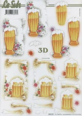 3D Bogen gestanzt Bier - Format A4