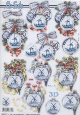3D Bogen / Artikelnummern,  Weihnachten - Baumschmuck,  Le Suh,  Baumkugeln,  Windmühle