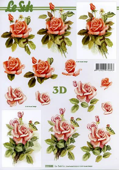 3D Bogen Rosen,  Blumen - Rosen,  Le Suh,  3D Bogen,  Rosen