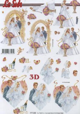 3D Bogen  - Format A4,  Le Suh,  3D Bogen,  Hochzeit