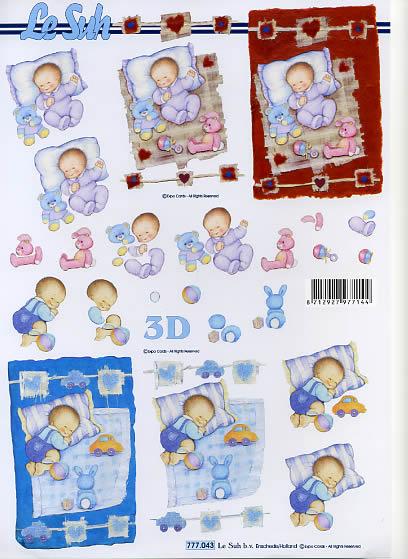 3D Bogen New Baby Format A4, Menschen - Babys,  Ereignisse - Geburt,  Le Suh,  3D Bogen,  Geburt,  Baby