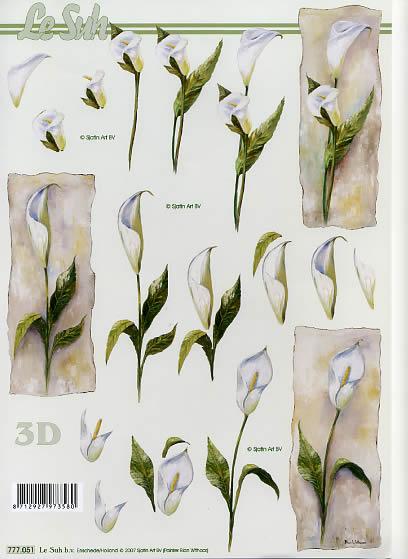 3D Bogen  - Format A4,  Blumen -  Sonstige,  Le Suh,  3D Bogen,  Blumen,  Trauer