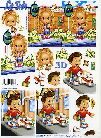 3D Bogen  - Format A4,  Le Suh,  3D Bogen,  Junge und Mädchen