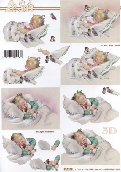 3D Bogen Geburt Mädchen - Format A4,  Menschen - Babys,  Le Suh,  3D Bogen
