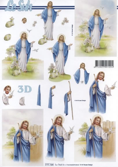 3D Bogen  - Format A4,  Menschen - Personen,  Le Suh,  3D Bogen,  Jesus