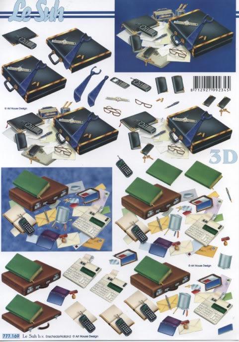 3D Bogen  - Format A4,  Le Suh,  3D Bogen,  Büro,  Mann,  Handy