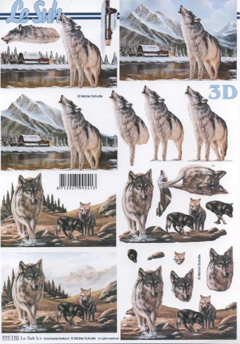 3D Bogen  - Format A4,  Le Suh,  3D Bogen,  Wolf