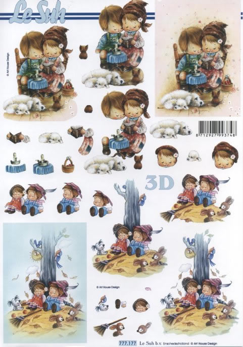 3D Bogen  - Format A4, Ereignisse - Liebe,  Menschen - Kinder,  Le Suh,  3D Bogen,  Kinder,  Liebe