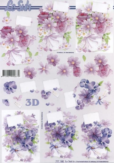 3D Bogen Format A4,  Blumen -  Sonstige,  Le Suh,  3D Bogen,  Blumen