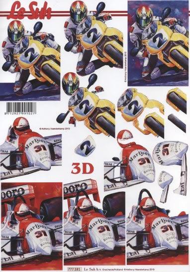 3D Bogen  - Format A4,  Fahrzeuge - Autos,  Le Suh,  3D Bogen