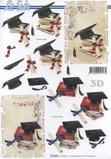 3D Bogen  - Format A4,  Le Suh,  3D Bogen,  Prüfung,  Bücher,  Collegeabschluß,  Abitur