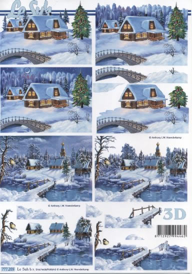 3D Bogen Winter - Format A4,  Regionen,  Le Suh,  3D Bogen