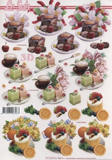 3D Bogen  - Format A4,  Essen - Kuchen / Keks,  Le Suh,  3D Bogen,  Kuchen,  Torte
