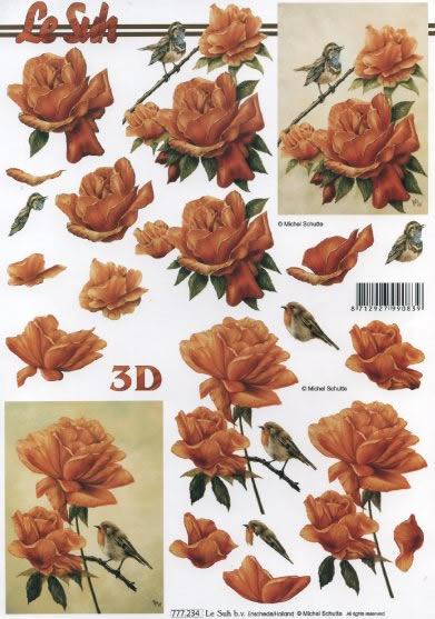 3D Bogen Rosen Format A4 ,  Blumen - Rosen,  Le Suh,  3D Bogen,  Rosen