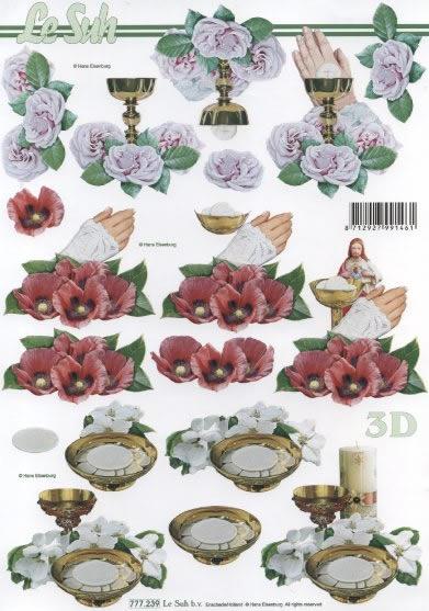 3D Bogen  - Format A4, Ereignisse -  Sonstige,  Blumen - Rosen,  Le Suh,  3D Bogen,  Kelch,  Mohn,  Rosen