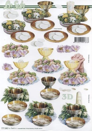 3D Bogen Kommunion - Format A4,  Ereignisse - Kommunion,  3D Bogen