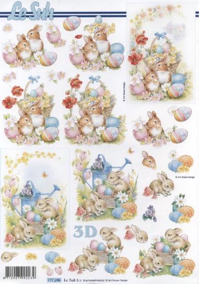 3D Bogen / Le Suh 777-.....,  Ostern - Ostereier,  Le Suh,  3D Bogen,  Ostereier,  Osterhasen,  Garten