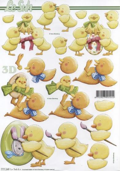 3D Bogen / Firmen,  Ostern - Ostereier,  Le Suh,  3D Bogen,  Küken,  Ostereier