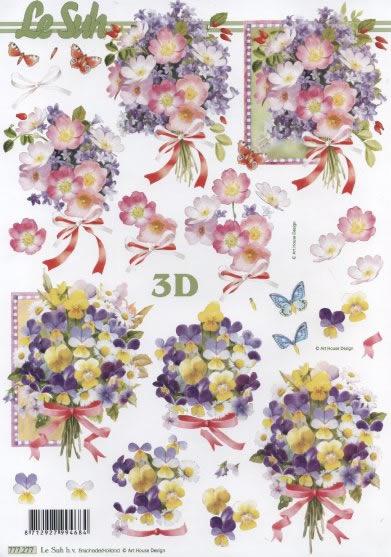 3D Bogen  - Format A4,  Blumen -  Sonstige,  Le Suh,  3D Bogen,  Blumenstrauß
