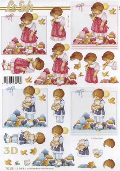 3D Bogen  - Format A4,  Menschen - Kinder,  Le Suh,  3D Bogen,  Mädchen,  Kinder