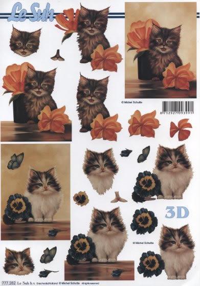 3D Bogen  - Format A4,  Tiere - Katzen,  Le Suh,  3D Bogen,  Katzen