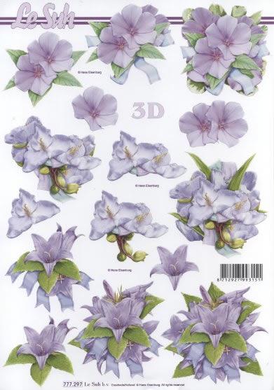 3D Bogen  - Format A4,  Blumen -  Sonstige,  Le Suh,  3D Bogen,  Lilien