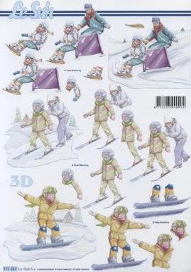3D Bogen Ski fahren - Format A4,  Sport -  Sonstiger,  Le Suh,  3D Bogen,  Ski