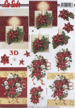 3D Bogen Weihnachtssphäre - Format A4, Weihnachten - Weihnachtsstern,  3D Bogen