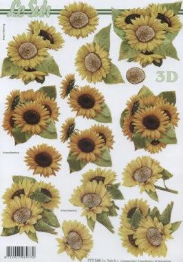 3D Bogen / alle anderen,  Blumen - Sonnenblumen,  Le Suh,  Sommer,  3D Bogen,  Sonnenblume