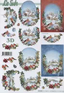 3D Bogen Format A4 - Winterlandschaft,  Winter - Schnee,  Le Suh,  Winter,  3D Bogen,  Winterlandschaft