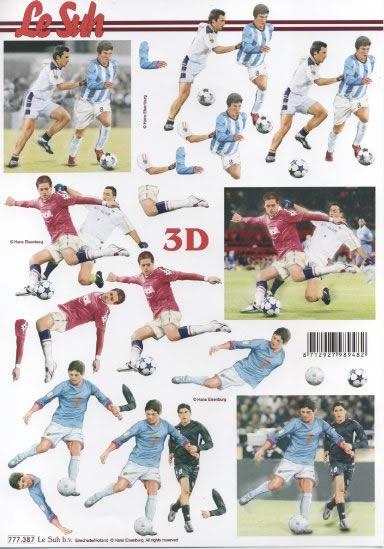 3D Bogen Fussball - Format A4