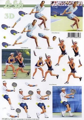 3D Bogen Tennis - Format A4