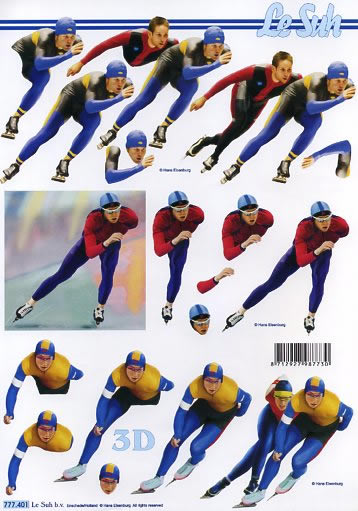 3D Bogen  - Format A4, Menschen - Personen,  Sport -  Sonstiger,  Le Suh,  3D Bogen,  Eisschnelllauf
