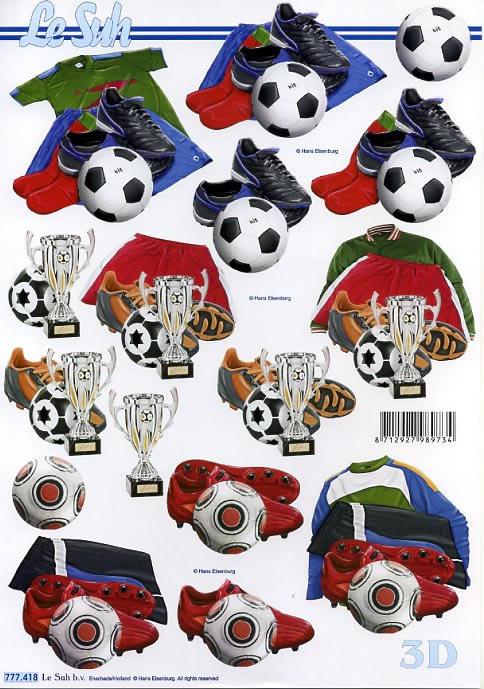 3D Bogen Footbal - Format A4,  3D Bogen