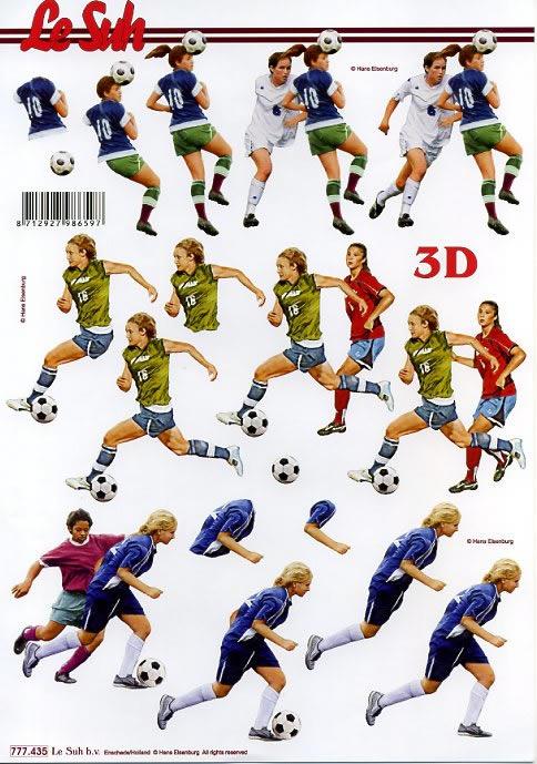 3D Bogen Fussballer - Format A4
