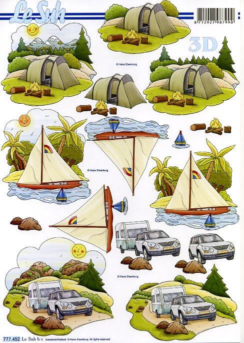 3D Bogen / Art,  Regionen - Strand / Meer -  Sonstige,  Le Suh,  Sommer,  3D Bogen,  Urlaub,  Zelt,  Camping