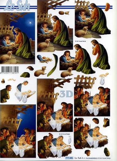 3D Bogen / Art, Le Suh,  3D Bogen,  Weihnachtskrippe